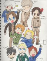 Chibi Hetalia (Old Drawing!) by Potato-Kitten