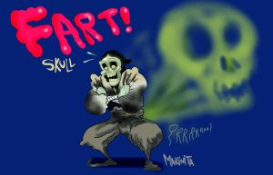 Skull farts by Makinita