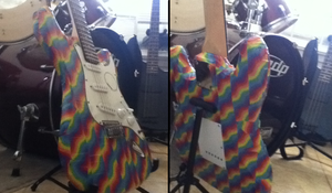 Psychedelic Guitar by WhoIsSeasideSaucer
