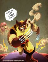 Wolverine Outta my way BUB by DustinEvans
