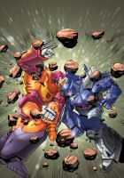 Hot Rod vs Galvatron by oICEMANo