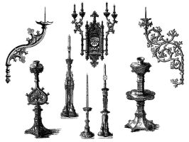 antique candle holders by groovychic