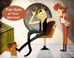 Fan Solo and Spirou Skywalker by MariChan27