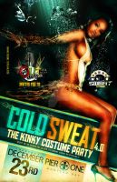 Cold Sweat - Party Flyer Front by Brainz-Designz
