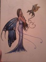 fairy and dragon (unfinished) by beccahanks