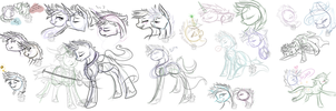 Of Templars and Mages Sketch Dump by Downpourpony