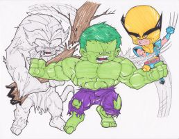 THE INCREDIBLE HULK AND WOLVERINE by hclix