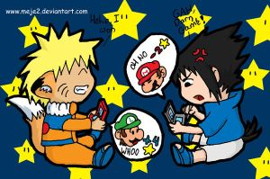 Naruto and Sasuke DS battle by Meje2