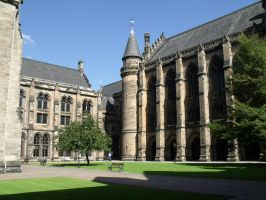 Glasgow University Quadrangles by Cszemis
