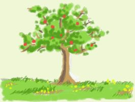 Art Academy DSi: I Would Like to be a Tree by ChibiBeckyG