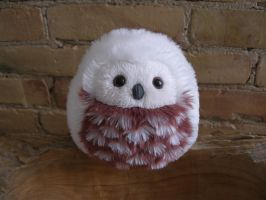 New Size: Xsmall owl (white/red) by demiveemon
