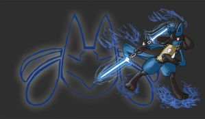 The Lucario Jedi by Eeveelutionist