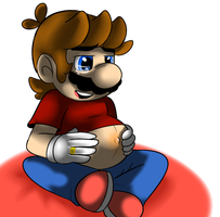 Pregnant Mario by raygirl12