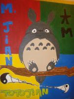 Totoro Painting by hklovesboba