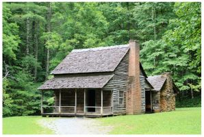 Henry Whitehead Cabin - August 2013 by CrystalMarineGallery