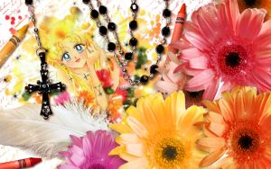 Sailor Moon Cross+Daisies wp by Hallucination-Walker