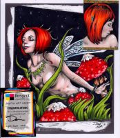 Pixie Sketch card by dsilvabarred