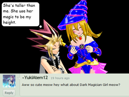 Question 45 ~Dark Magician Girl's Height?~ by AskMMDYugi