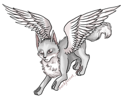 Neopets: Ophelia the Grey Faellie by Blesses