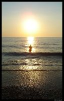 Vanish into the sea at sunset by Gwynth777