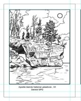 Apostle Island coloring page by SYoshiko