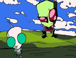 Invader Zim Background by LiluPooka