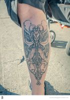 winged key steam punk tattoo by foxxmax