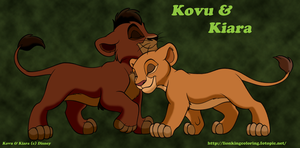 Kovu and Kira Nuzzle by FoxHole09