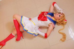 Sailor Moon Tsukino Usagi Cotton Polyester Cosplay by carrieleo