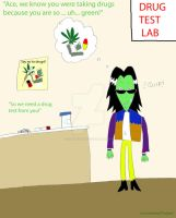Ace takes a drug test by DarkRoseDiamond123