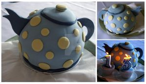 Teapot cake by JesterofEvil