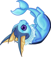 CUTE Vaporeon by dragowlfly
