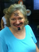 fff my aunts face paint by Z-the-wolfe