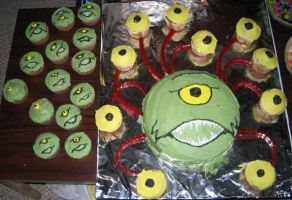 Beholder cake with babies by Ranasp