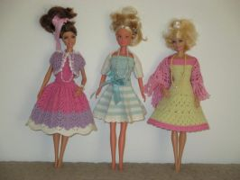 3 Dresses for Barbie Dolls by ToveAnita