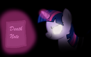 Twilight Sparkle finds the Death Note by WarriorSparrow