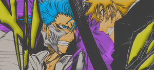 Ichigo vs Grimmjow Colorize by Chris-Strife