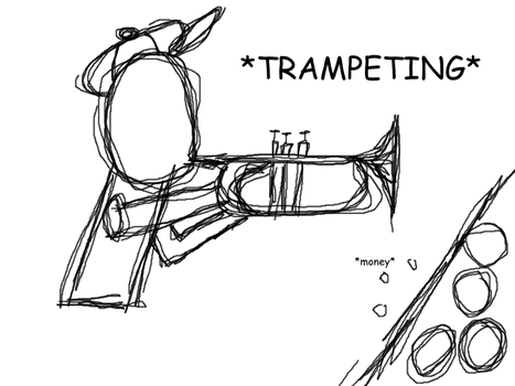 Trumpet Show by MS-Paint-Fun