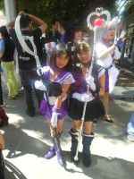 Fanime 2012: Sailor Saturn and Super Sailor Pluto by K-ayu