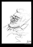 old man portrait sketch by barisgbo