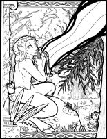 LINEART:Forest God by Aleksandros