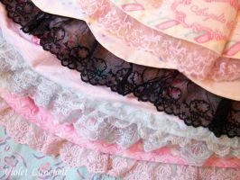 Lovely colorful lace by VioletLunchell