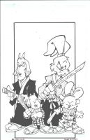 Usagi Yojimbo and friends by dougie-mccoy