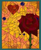 Stained Glass Rose by Amilee