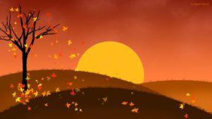 Autumn Wallpaper by HypnoticMystery