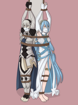 Corrin and Azura poll tied commission by MahouShoujoRuby