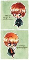 LotR: Hobbits by cheese-cake-panda