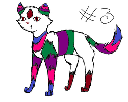 cat adoptable set one number three by TLartist