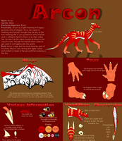 Arcon Reference Sheet by FireDragon97