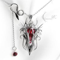 XEENTYRN - silver and red quartz by LUNARIEEN